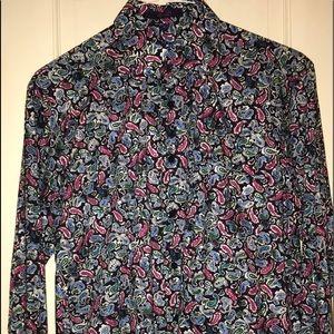 Alan Flusser Paisley Men Shirt Size Small